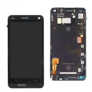 LCD (Дисплей) HTC One (в сборе с тачскрином) (в раме) (black) Оригинал