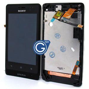 LCD (Дисплей) Sony ST27i Xperia Go (в сборе с тачскрином) (в раме) (black) Оригинал