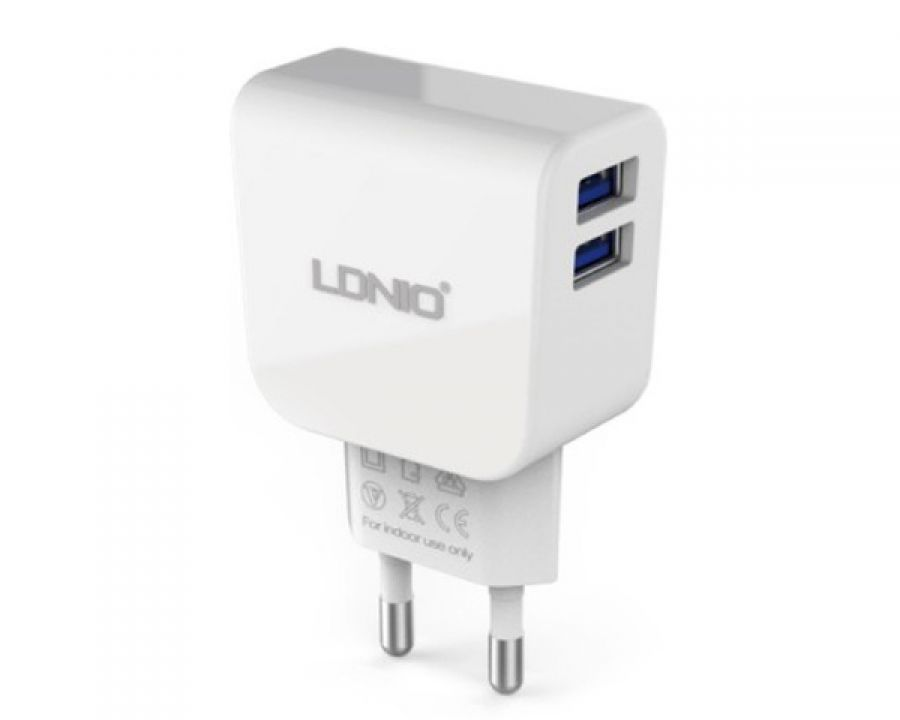 Сетевое зарядное устройство Ldnio DL-AC56 2 USB (2,1 A) (white)