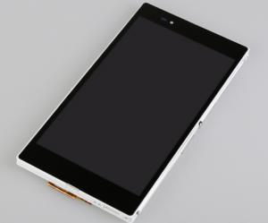 LCD (Дисплей) Sony C6833 Xperia Z Ultra (в сборе с тачскрином) (в раме) (white) Оригинал