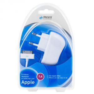Сетевое зарядное устройство Deppa iPod/ iPhone 2G/3G/3GS/4/4S (1 A) (white)
