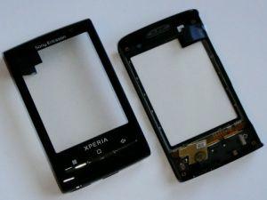Тачскрин Sony Ericsson X10 Xperia mini  (в сборе с передней панелью) Оригинал