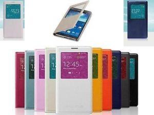 Чехол-книжка (View Cover) Samsung G355H Galaxy Core 2/G355H Galaxy Core 2 Duos с окошком (blue) Оригинал