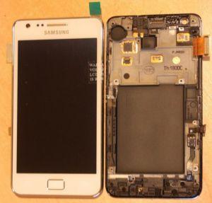LCD (Дисплей) Samsung i9100 Galaxy S2 (в сборе с тачскрином) (в раме) (white) Оригинал