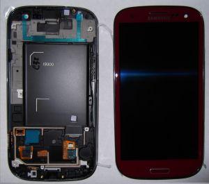 LCD (Дисплей) Samsung i9300 Galaxy S3 (в сборе с тачскрином) (в раме) (red) Оригинал