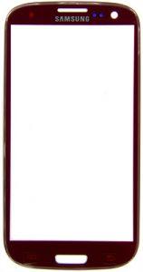 Защитное стекло i9300 Galaxy S3 (red)