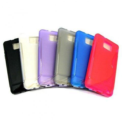 Накладка Samsung i9100 Galaxy S2/i9105 Galaxy S2 Plus силикон (black)