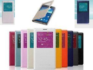 Чехол-книжка (View Cover) Samsung G355H Galaxy Core 2/G355H Galaxy Core 2 Duos с окошком (white) Оригинал